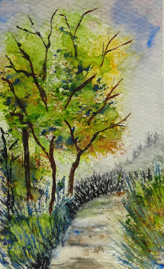 Peaceful Painting - Spring Walk by Catherine Arcolio