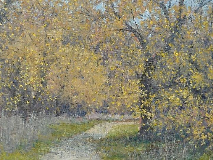 Spring Painting - Spring Walk by Marv Anderson