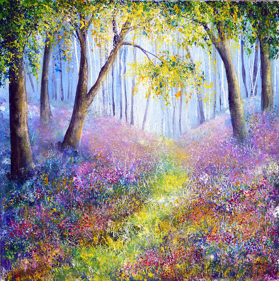 Spring Painting - Spring Welcome by Ann Marie Bone
