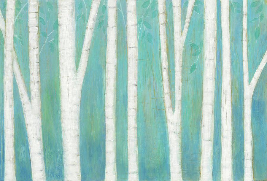 Birch Trees Painting - Spring Woods by Melissa Averinos