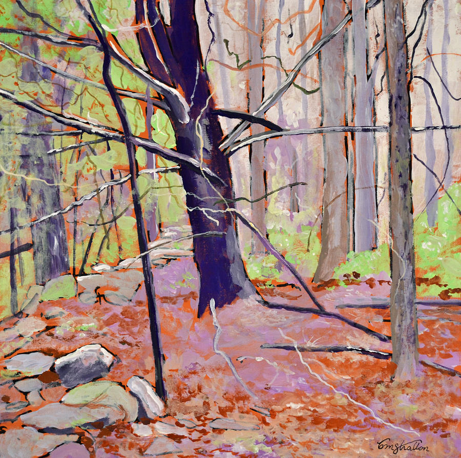 Landscape Painting - Spring Woods by Thomas Stratton