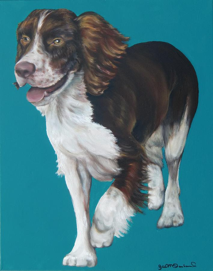 Dog Painting - Springer Spaniel by Gail Mcfarland