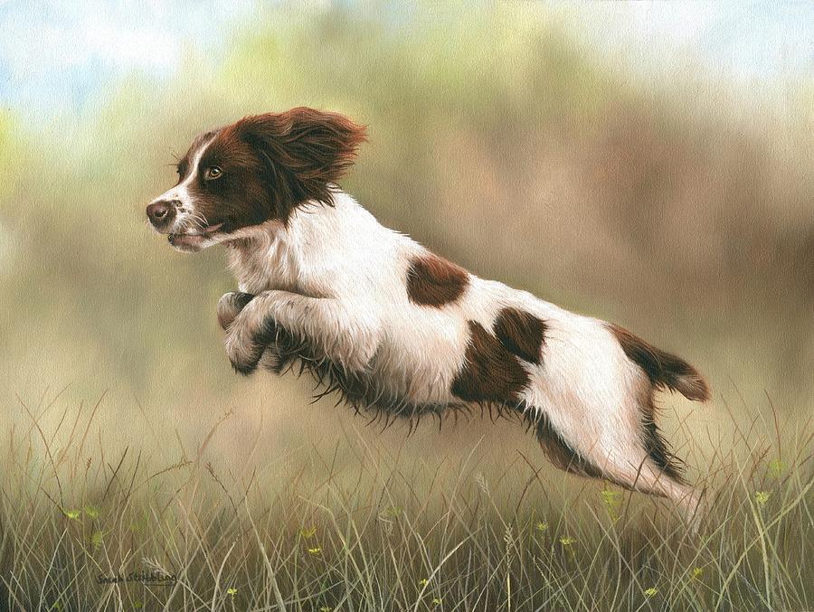 English Springer Spaniel Oil Painting
