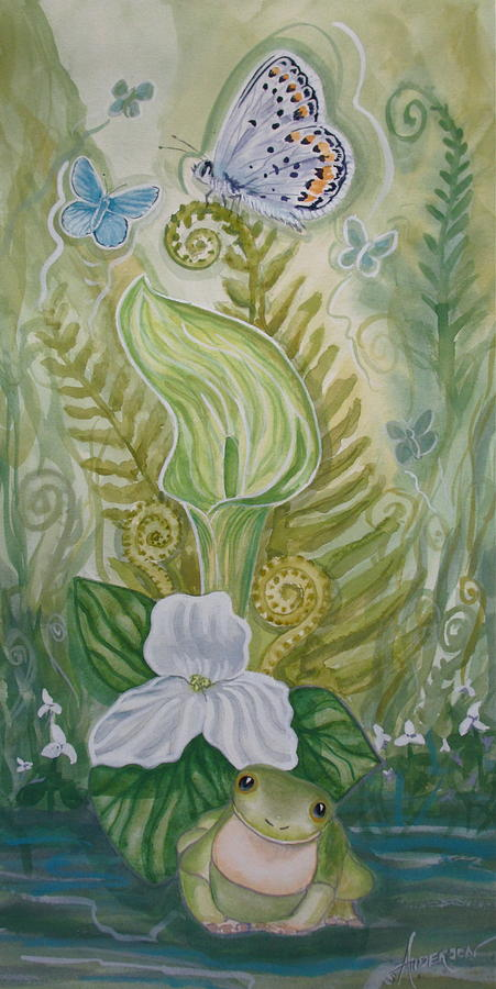 Fern Painting - Springs Awakening 1 by Sherri Anderson