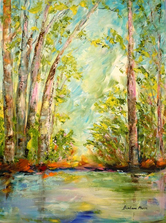 Landscape Painting - Springs Awakening by Barbara Pirkle
