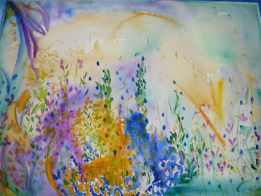 Mixed Media Painting - Springs Dawn by Phoenix Simpson