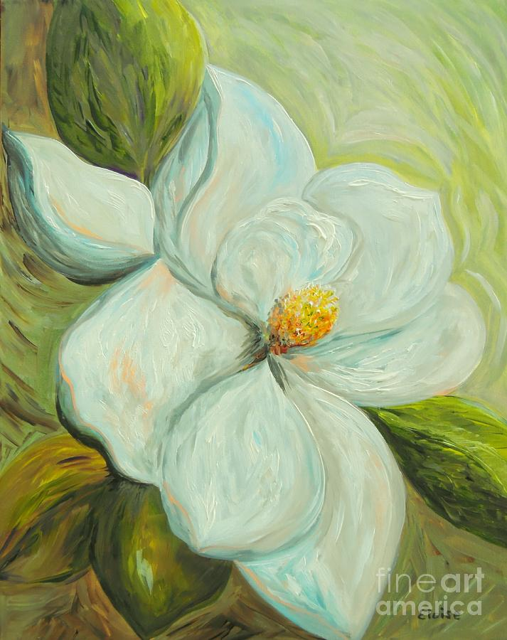 Magnolia Painting - Springs First Magnolia 2 by Eloise Schneider