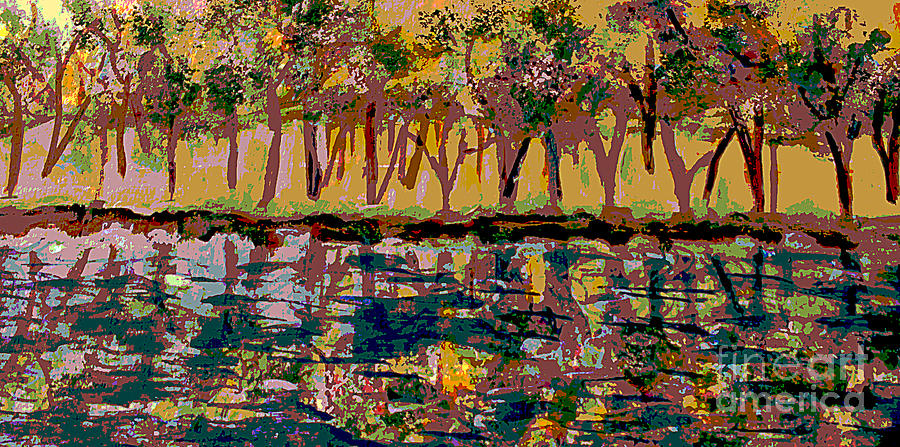 Charles River Painting - Springtime Along The Muddy River by Rita Brown