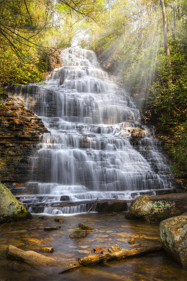 Appalachia Photograph - Springtime At Benton Falls by Debra and Dave Vanderlaan