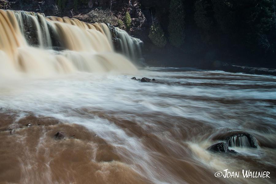 Gooseberry Falls Photograph - Springtime at Gooseberry Falls by Joan Wallner