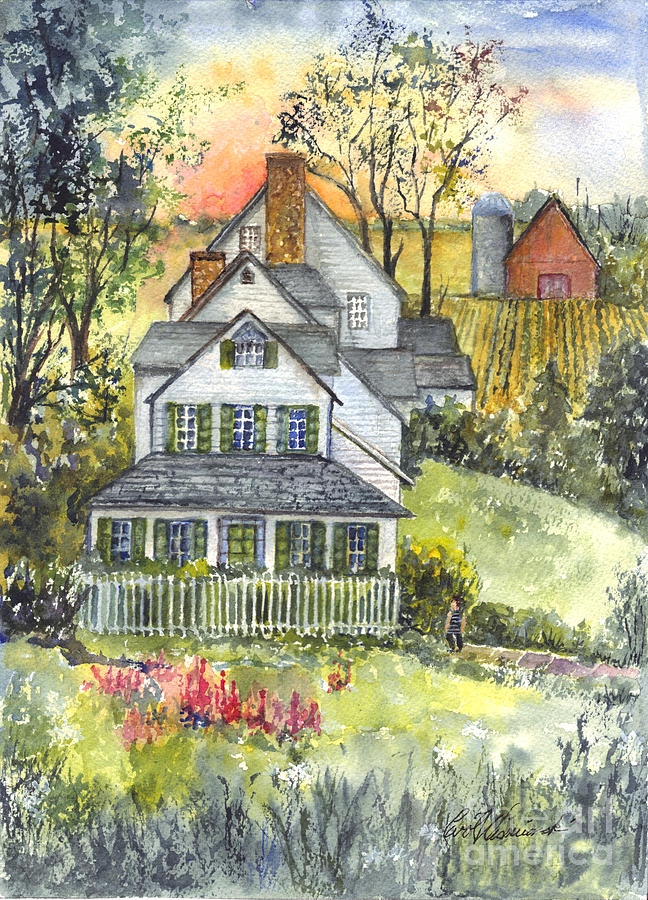 Watercolor Painting - Springtime Down On The Farm by Carol Wisniewski