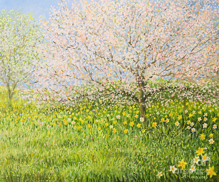 Drawing Painting - Springtime Impression by Kiril Stanchev