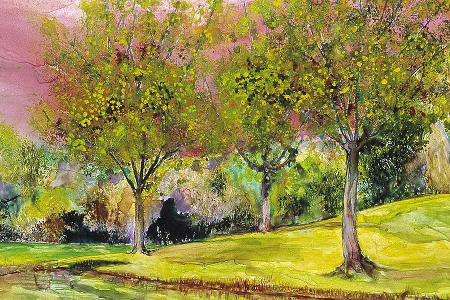 Landscape Painting - Springtime In Sawgrass Park by Gary Debroekert