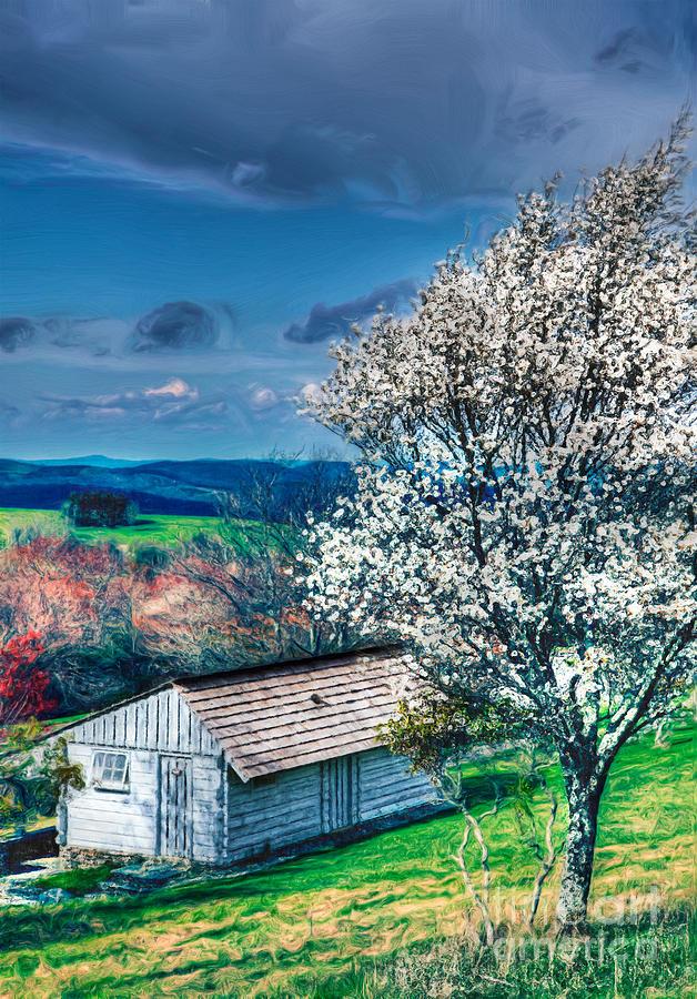 North Carolina Painting - Springtime In The Blue Ridge Mountains II by Dan Carmichael