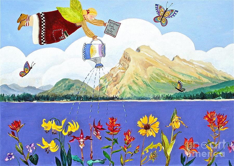 Mt Rundle Paintings Painting - Springtime In The Rockies by Virginia Ann Hemingson