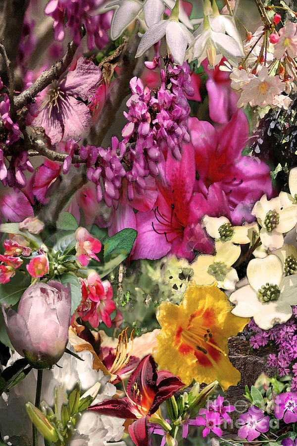 Springtime Digital Art - Springtime In Zebulon Left by Paul Gentille