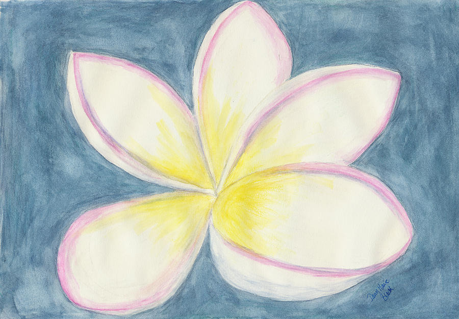 Plumeria Painting - Springtime Perfection by Dawn Marie Black