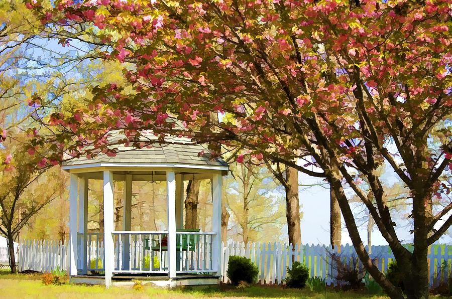 Gazebo Photograph - Springtime Southern Style by Dan Holland