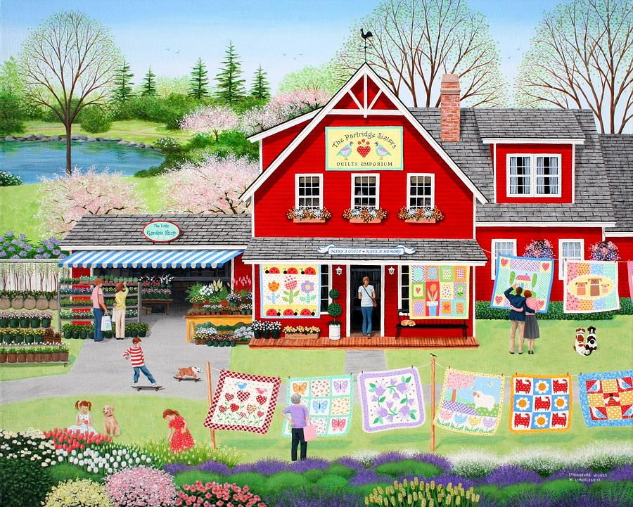 Folkart Painting - Springtime Wishes by Wilfrido Limvalencia