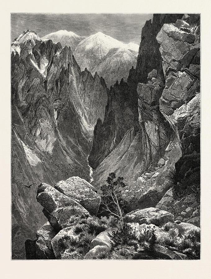 Springville Canyon. Thomas Moran February 12 Drawing by ...