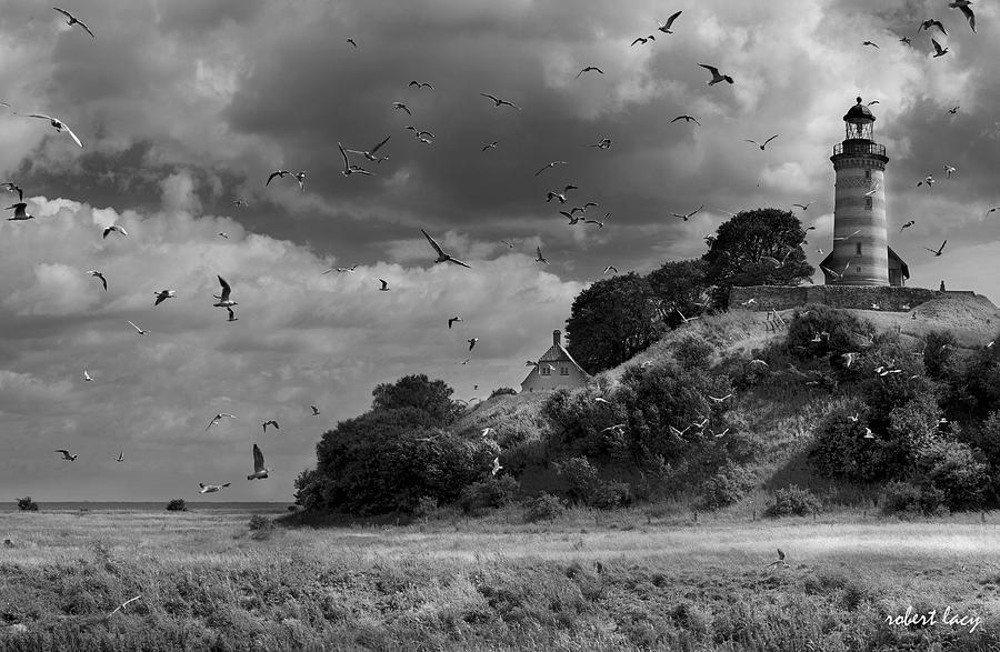 Lighthouse Photograph - Sprogoe Lighthouse by Robert Lacy