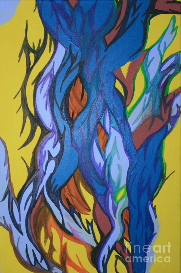 Growth Painting - Sprouting Seed 2 by Mary Mikawoz