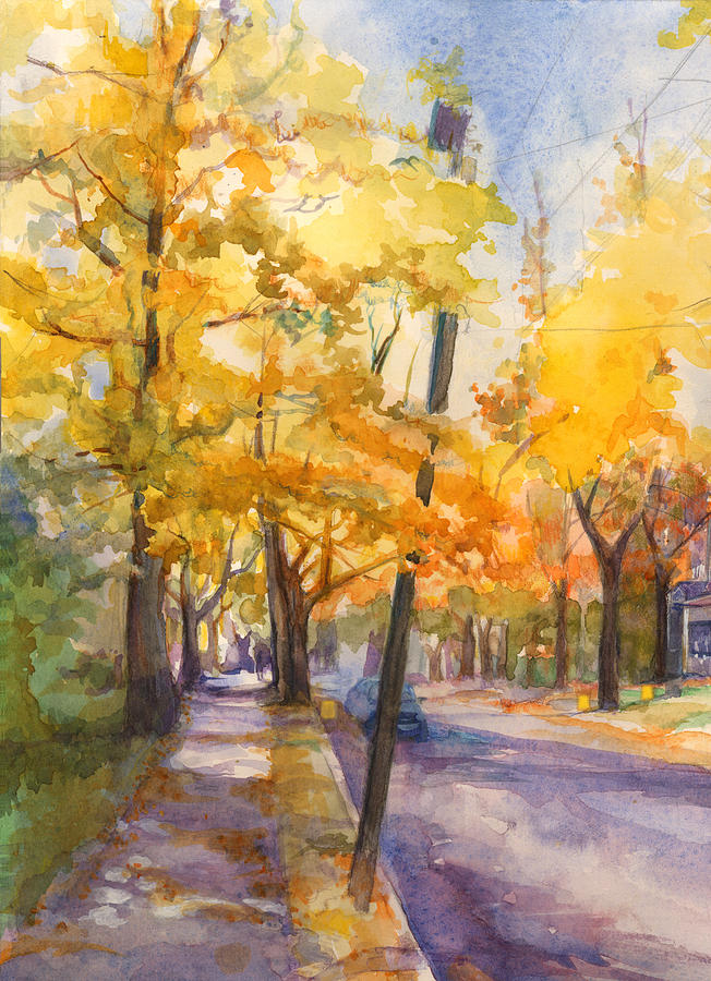 Spruce Street Maples #2 by Nancy Watson