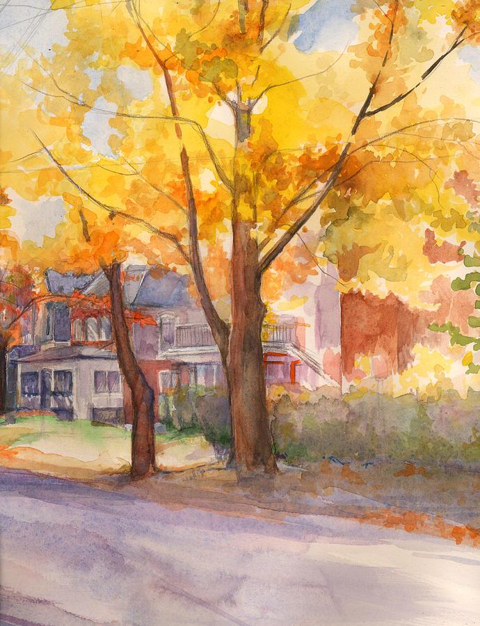 Spruce Street Maples by Nancy Watson