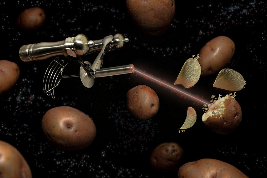 Potato Digital Art - Spuds The Final Frontier by Randy Turnbow