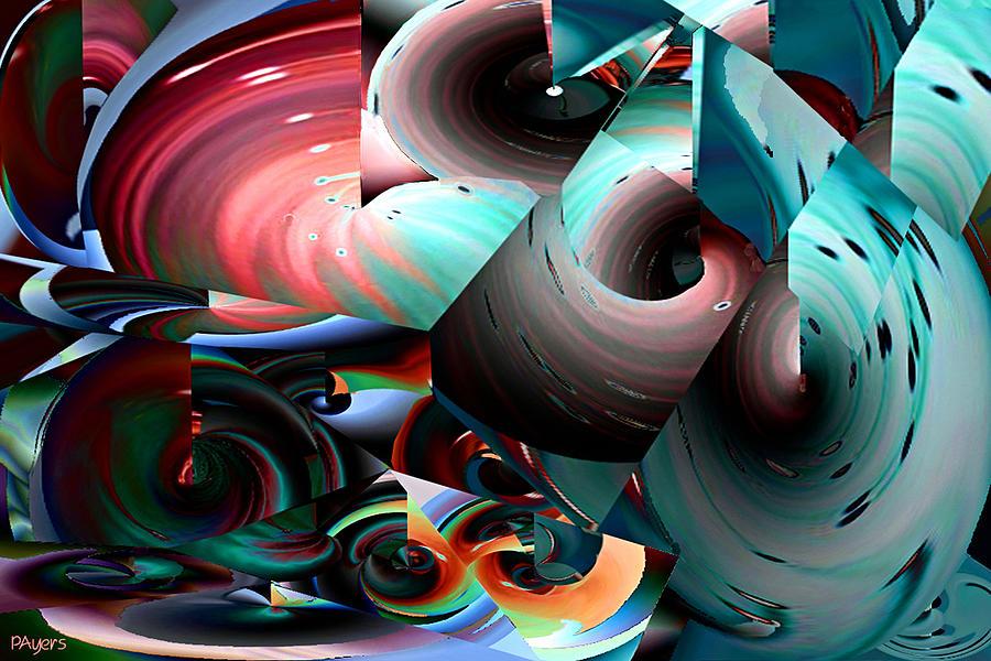 Paula Digital Art - Spun Energy by Paula Ayers
