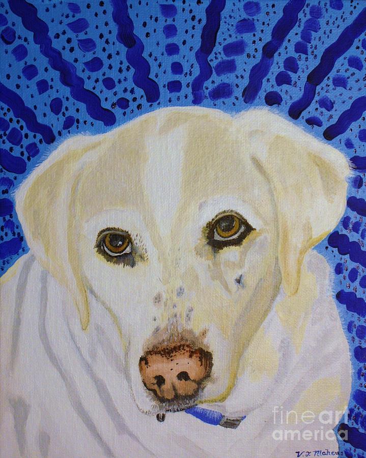 Dog Painting - Spunky by Vicki Maheu