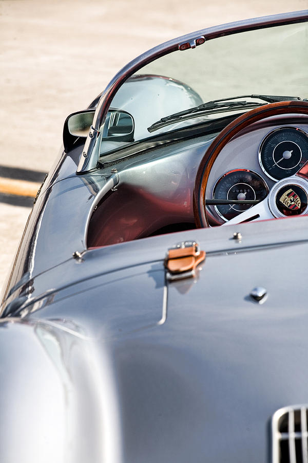 Porsche Photograph - Spyder Cockpit by Peter Tellone