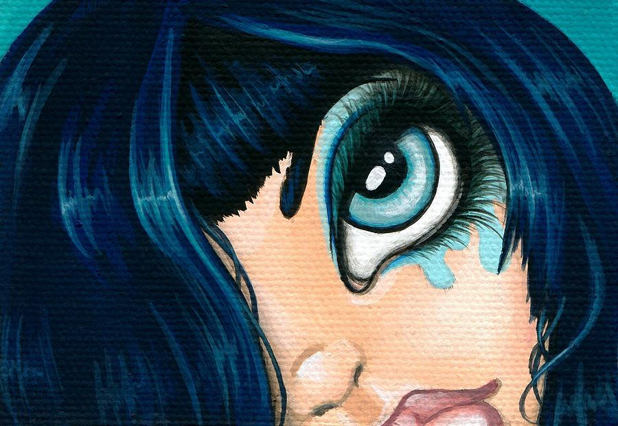 Faery Painting - Spying Fae 01 by Elaina  Wagner