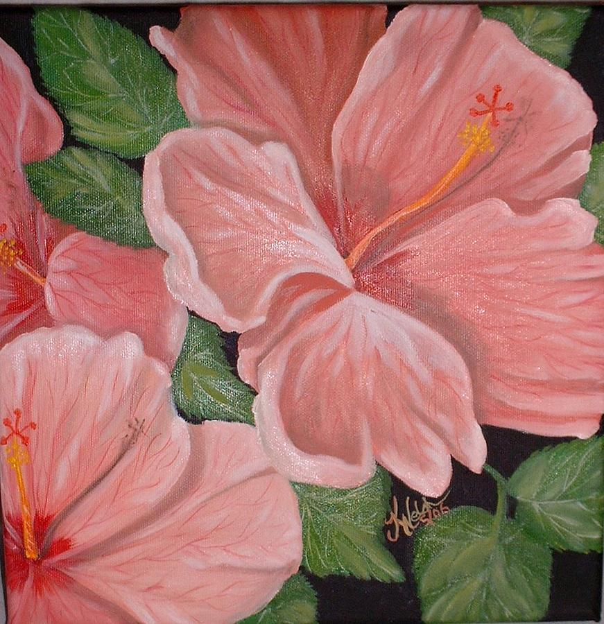 Hibiscus Painting - Square Foot Hibiscus by Kathern Welsh