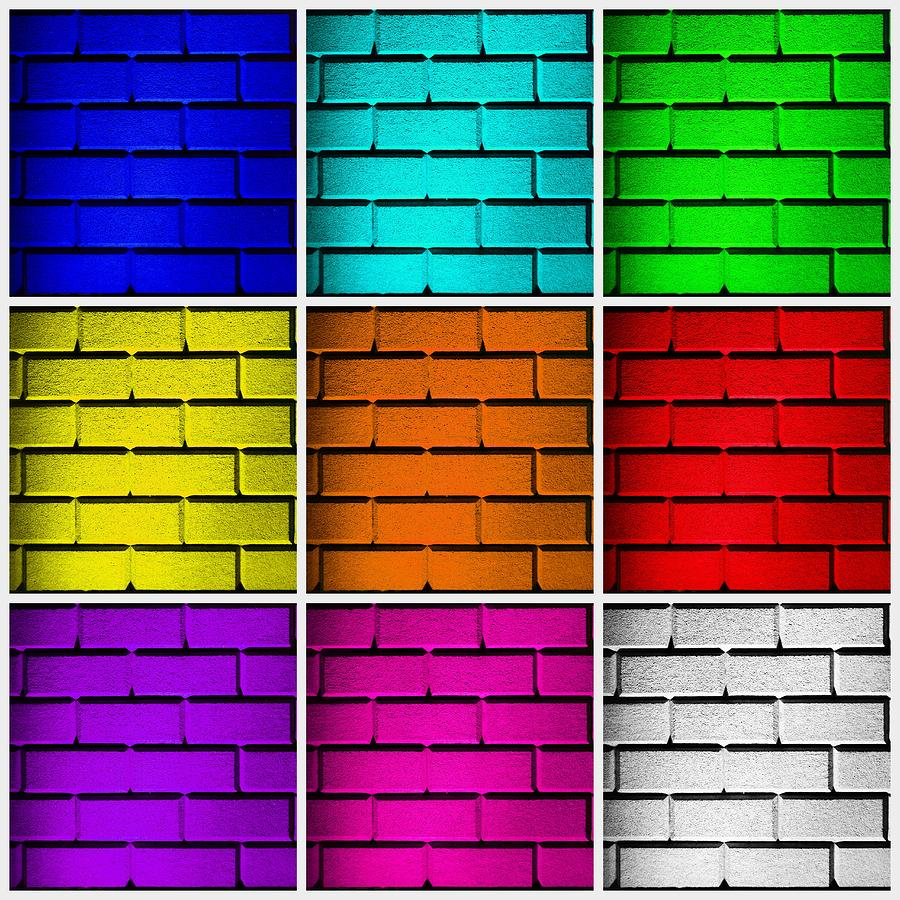Squared color wall photograph by semmick photo for What wall colors mean