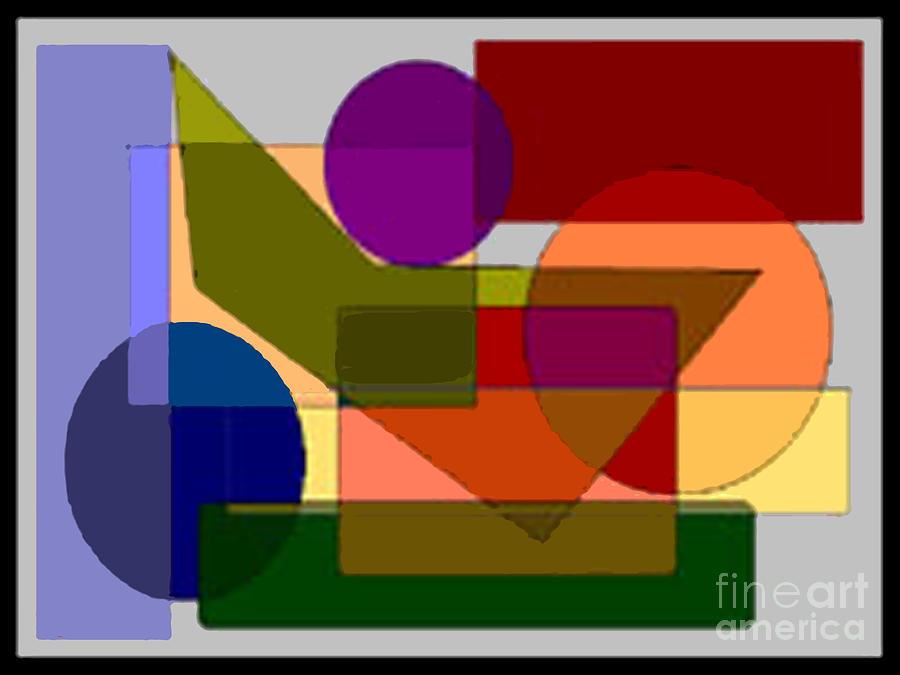 Square Circle Digital Art - Squares Circles by Meenal C