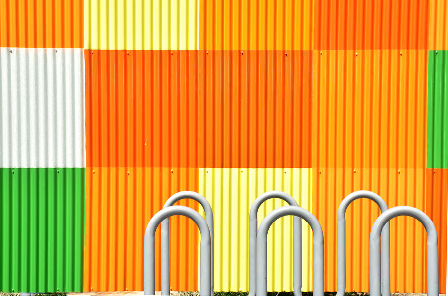Orange Photograph - Squares by Diane Lent