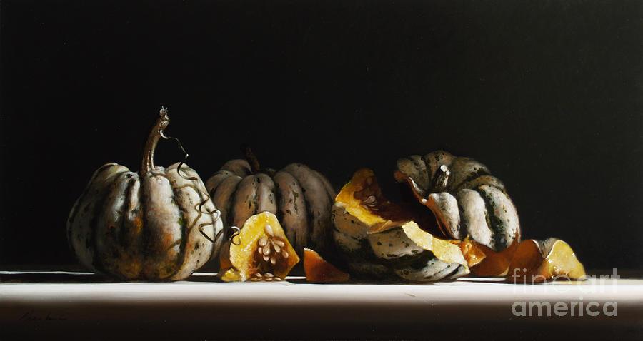 Squash Painting - Squash Sweet Dumpling by Larry Preston