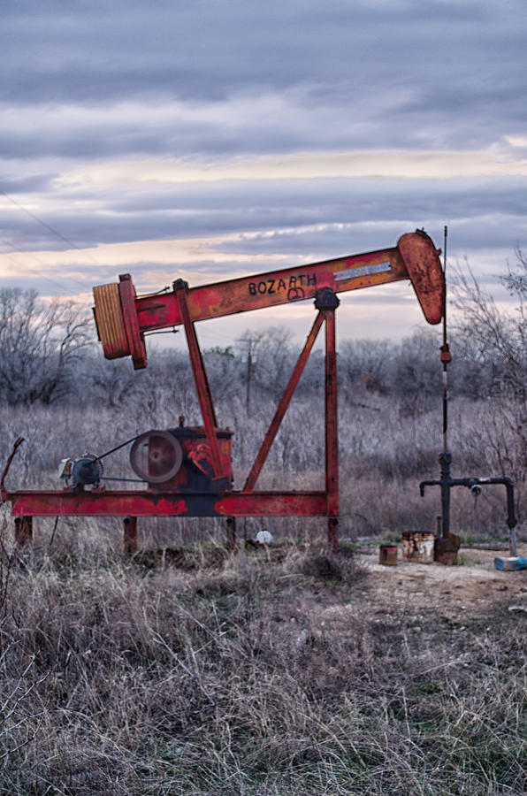 Pump Jack Photograph - Squeaky Old Pump Jack by Kelly Kitchens