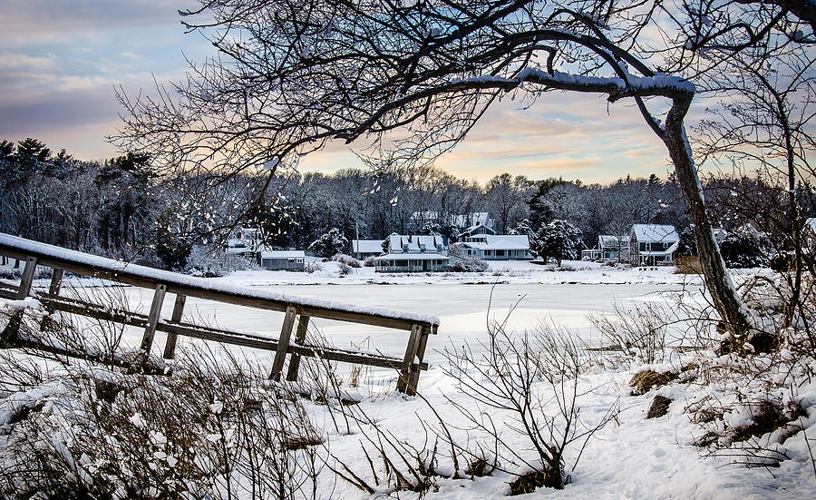 Squeteague Harbor Winter by Jennifer Kano