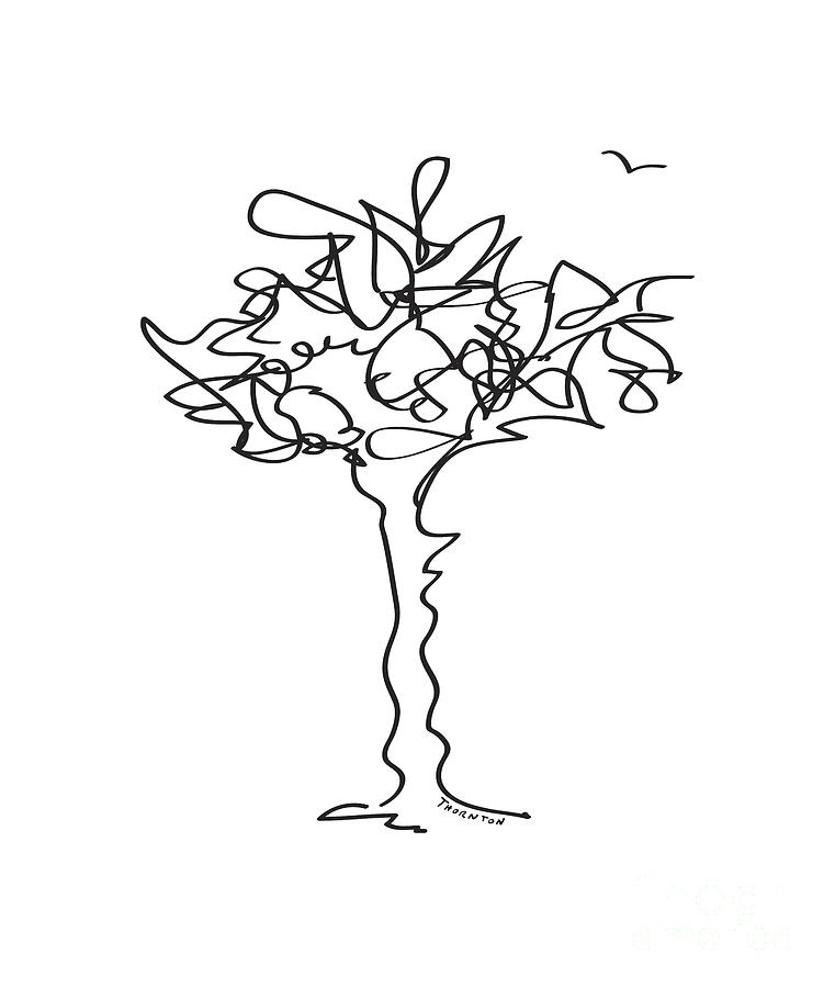 Squiggle Tree 1 Drawing by Diane Thornton