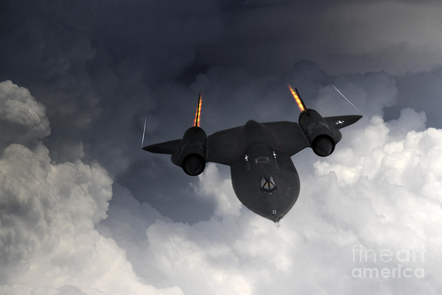 Sr71 Blackbird Digital Art - Sr-71 Blackbird by J Biggadike