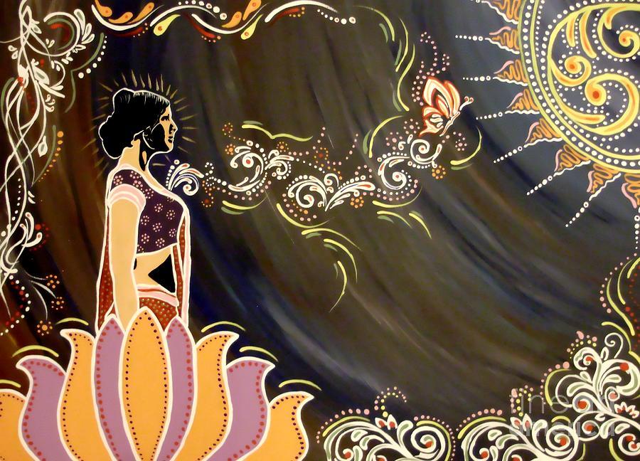 Diwali Painting - Sri Lalita by Meenakshi Malhotra