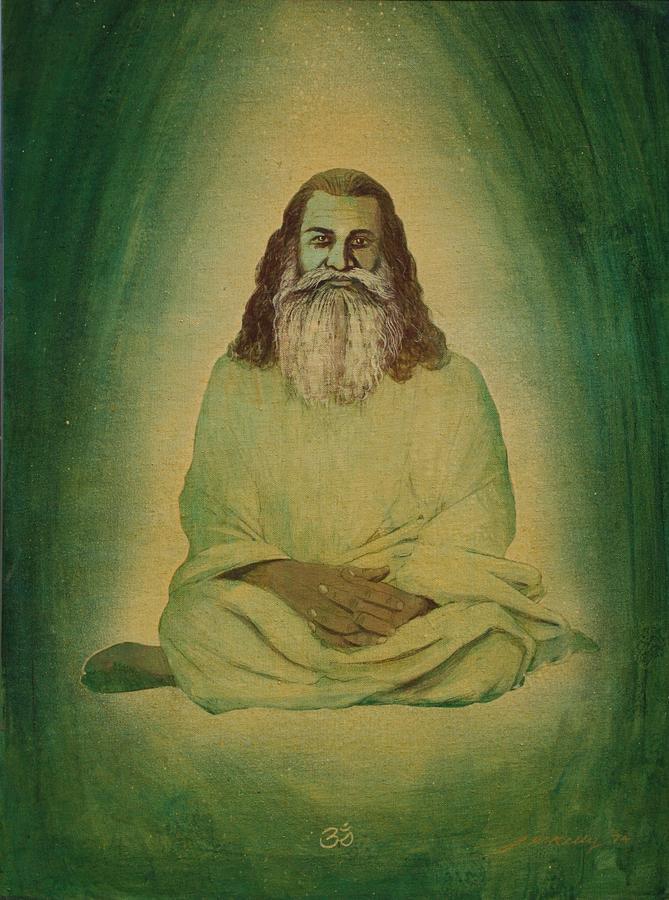 Portrait Painting - Sri Swami Satchidananda by J W Kelly