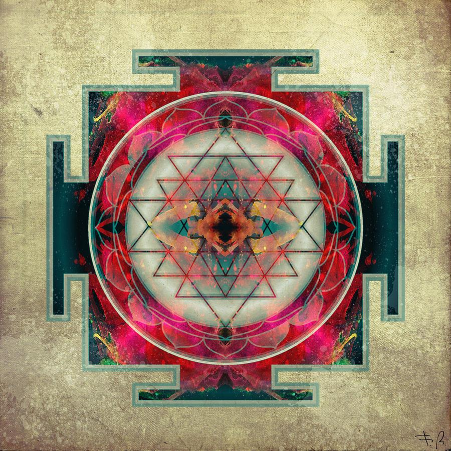 Mandala Digital Art - Sri Yantra  by Filippo B