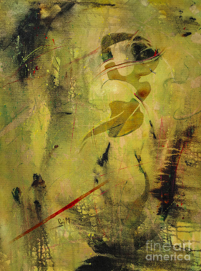 Thought Painting - Sringara Rasa by Raj Maji