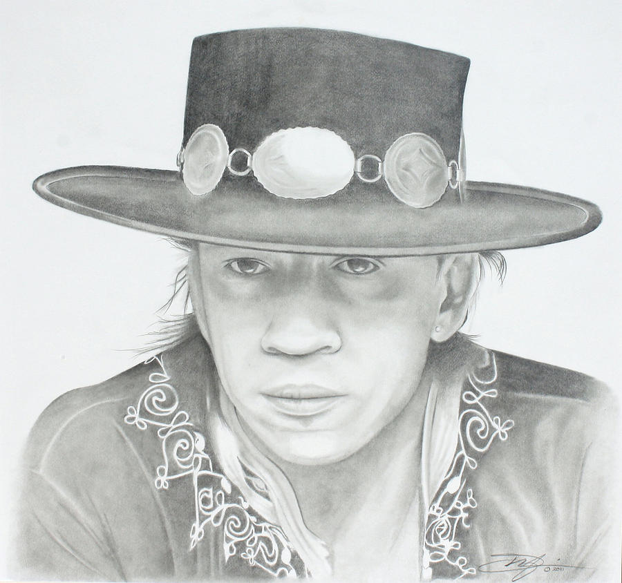 Srv Drawing - SRV by Don Medina
