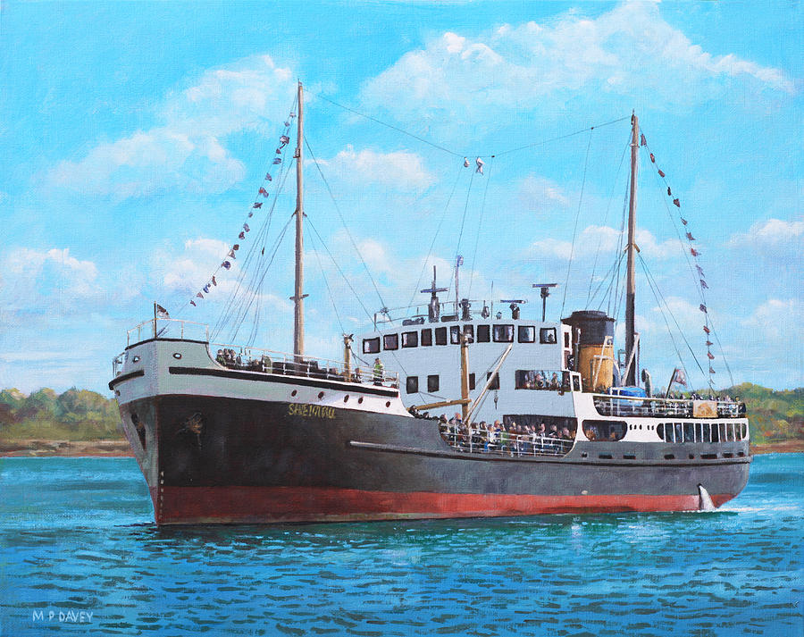 Ship Painting - Ss Shieldhall On A Cruise In The Solent by Martin Davey