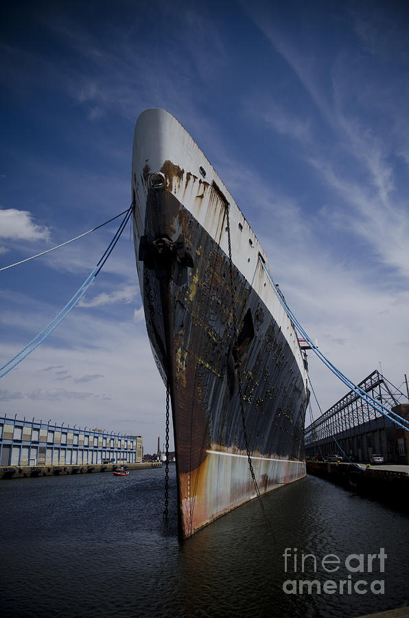 Ship Photograph - Ss United States By Jessica Berlin by Jessica Berlin