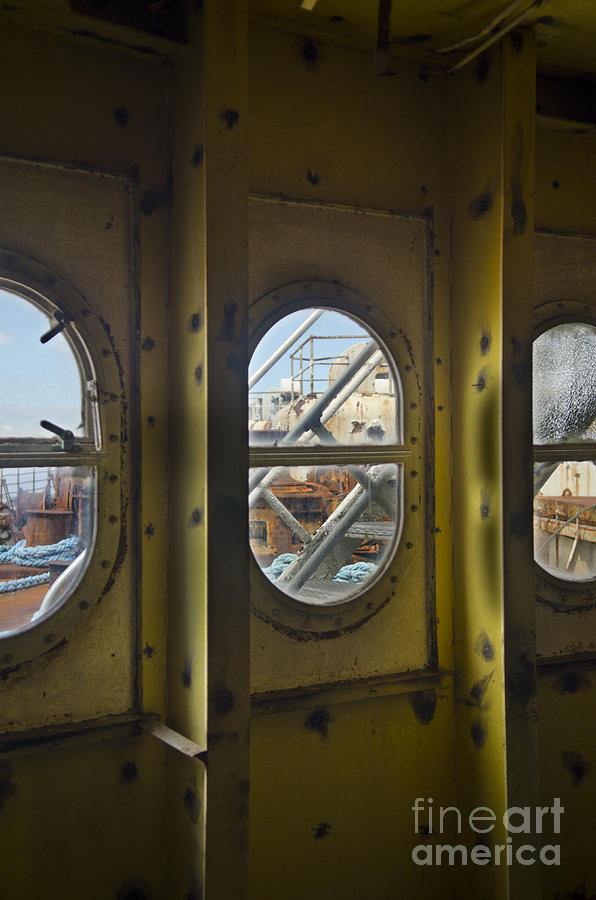 Ss United States Photograph - Ss Unites States Deck Windows by Jessica Berlin